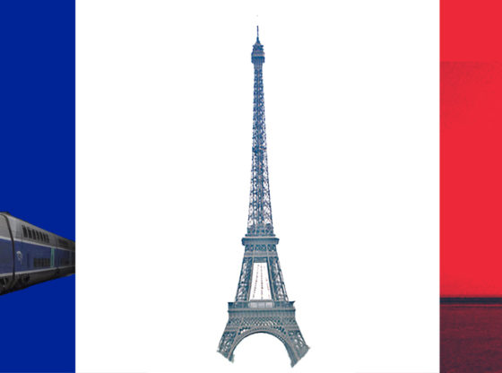 French Flag and French Technology
